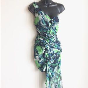 Diane von Furstenburg Dessie One Shoulder Dress